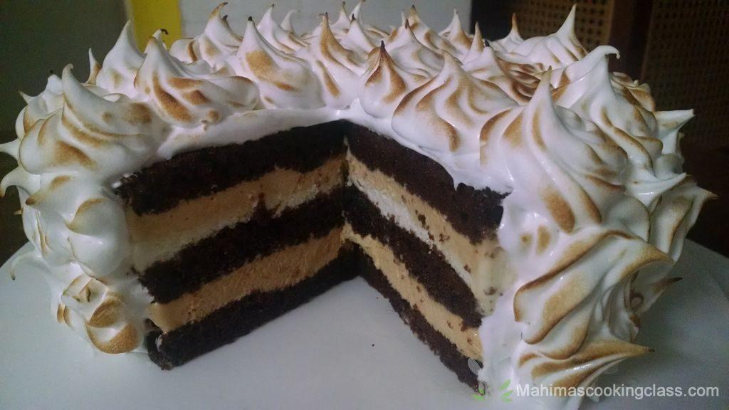 caramel-mousse-baked-alaska