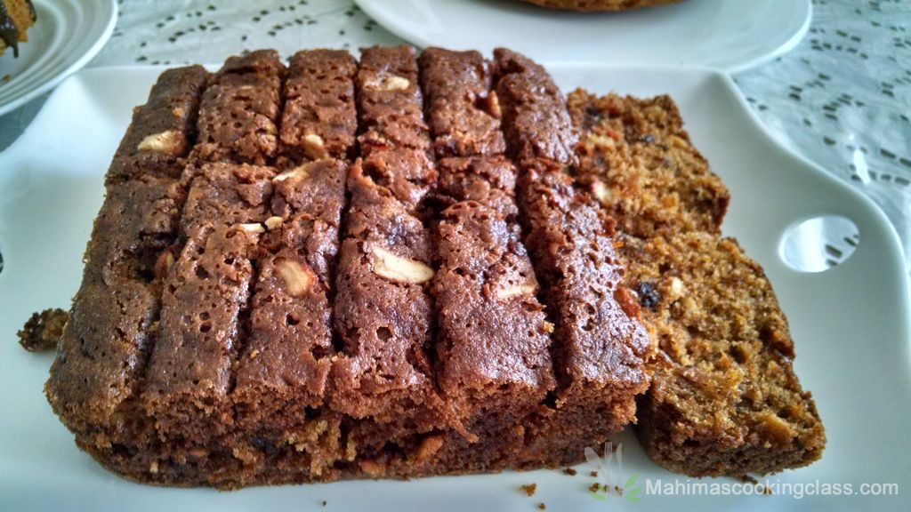 Carrot date and nut cake